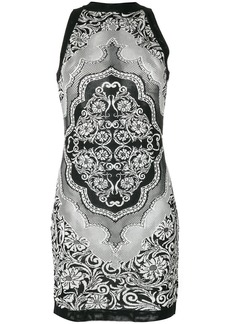 Balmain jacquard lace dress - Black