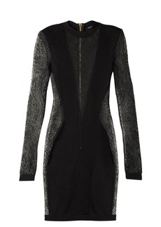 Balmain Lace-insert mini dress
