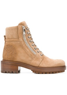 Balmain lace-up ankle boots - Nude & Neutrals