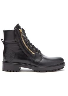 Balmain Logo-embellished leather biker boots