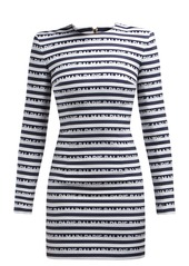 Balmain Logo-jacquard cotton mini dress