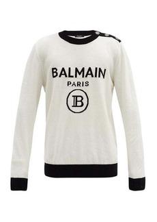 Balmain Logo-jacquard wool-blend knit sweater