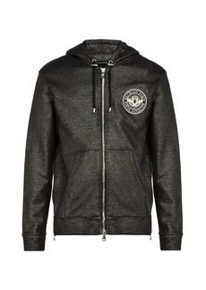 Balmain Logo-patch cotton hooded sweatshirt