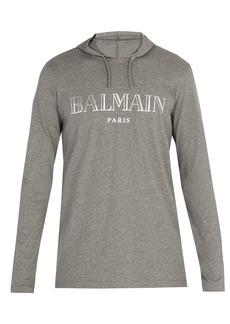 Balmain Logo-print hooded sweatshirt