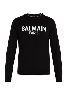 Balmain Logo-print wool sweater