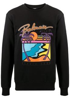 Balmain logo print sweatshirt