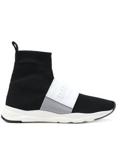 Balmain logo sock sneakers - Black