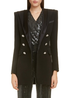 Balmain Long Hooded Blazer