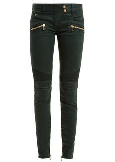 Balmain Low-rise skinny biker jeans