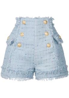 Balmain matelot tweed shorts - Blue