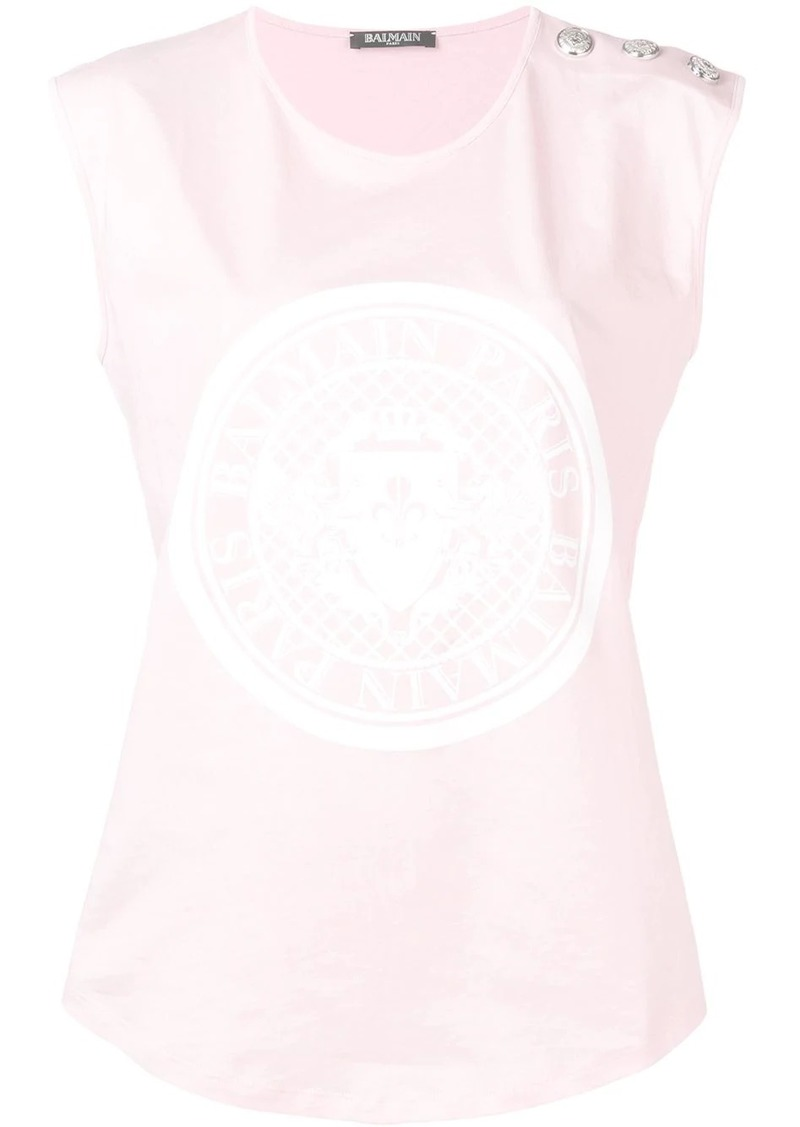 Balmain medallion print tank top