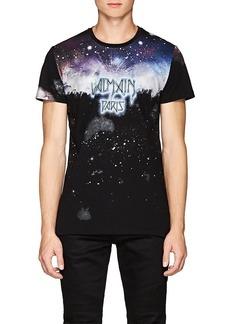 Balmain Men's Galaxy-Print Cotton T-Shirt
