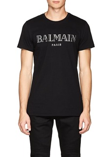 Balmain Men's Logo Cotton T-Shirt