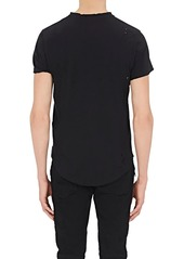 Balmain Men's Logo Distressed Cotton T-Shirt