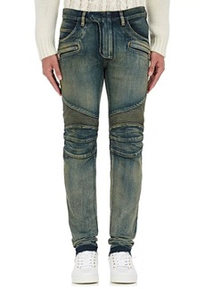 Balmain Men's Straight Biker Jeans