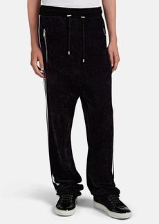 Balmain Men's Striped Chenille Track Pants