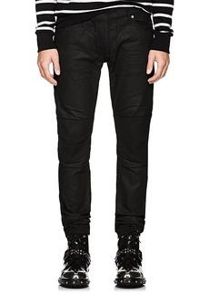 Balmain Men's Waxed Biker Skinny Jeans