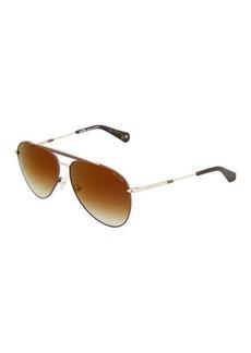 Balmain Metal Aviator Sunglasses