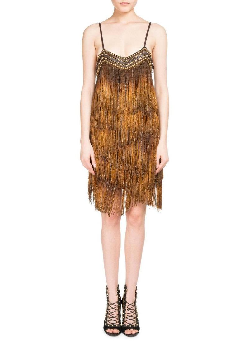 Balmain Balmain Metal Chain Fringe Flapper Dress | Dresses - Shop It ...