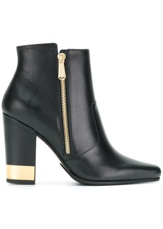 Balmain metallic heel boots - Black
