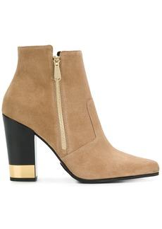 Balmain metallic heel boots - Nude & Neutrals