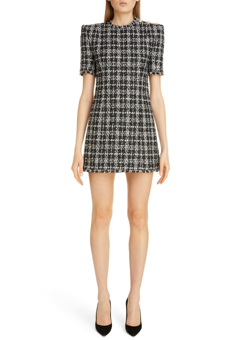 Balmain Metallic Tweed Minidress