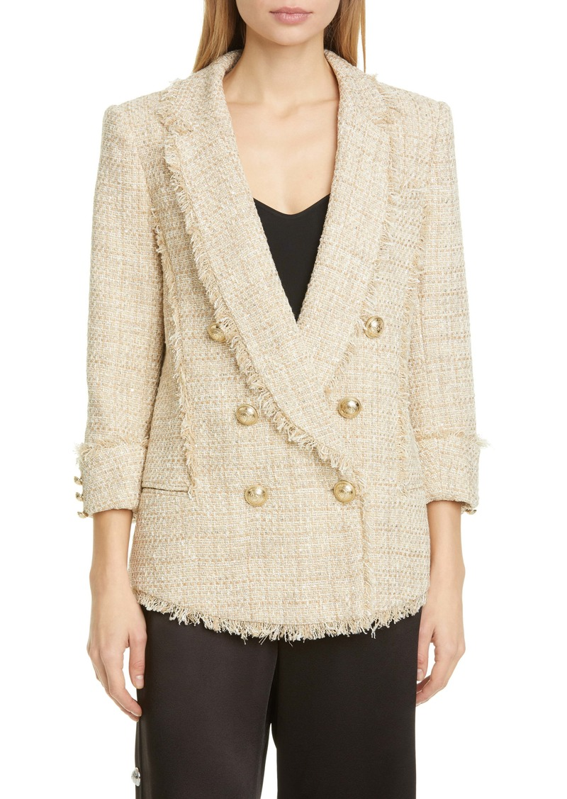Balmain Metallic Tweed Pyjama Blazer