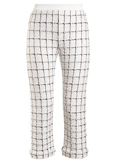 Balmain Mid-rise checked trousers