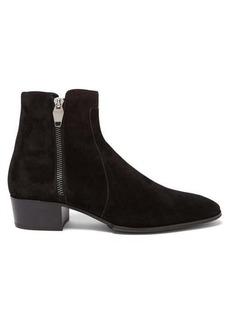 Balmain Mike zip-up suede Chelsea boots