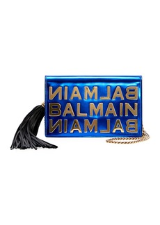 Balmain Mirror Leather Pochette Crossbody Bag