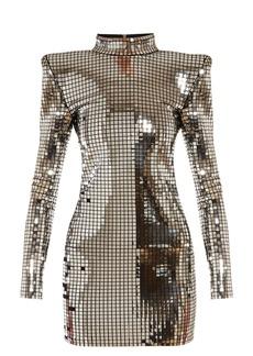 Balmain Mirrored high-neck mini dress