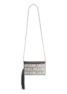 Balmain Mirrored Logo Leather Crossbody