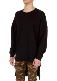 Balmain Oversized Wool Sweatshirt with Extended Hem