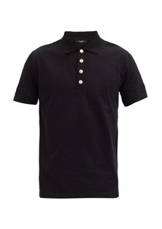 Balmain Padded-logo cotton-jersey polo shirt