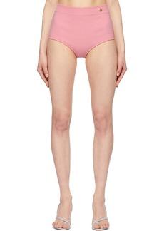 Balmain Pink Cashmere High Waist Briefs