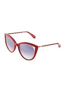 Balmain Plastic Cat-Eye Sunglasses
