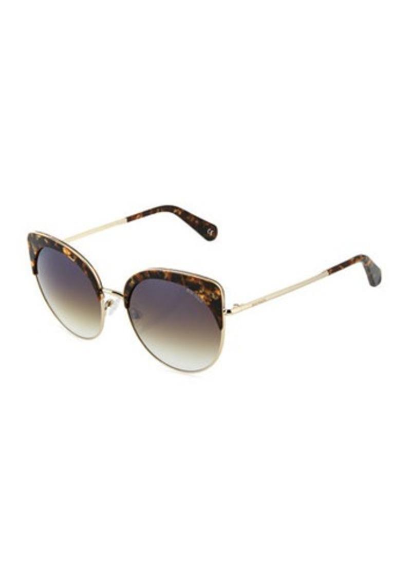 49dddf6435 Balmain Balmain Plastic Metal Cat-Eye Sunglasses