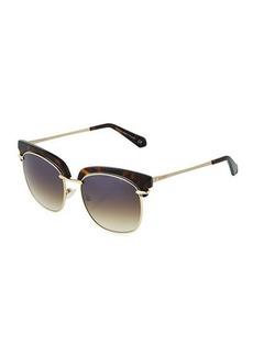 Balmain Plastic/Metal Cat-Eye Sunglasses