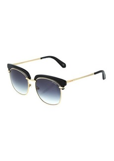 Balmain Plastic/Metal Cat-Eye Sunglasses