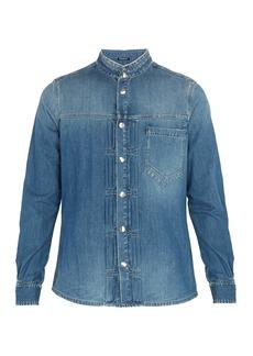 Balmain Pleated denim shirt