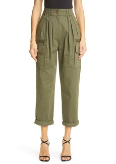 Balmain Pleated Front Cargo Pants