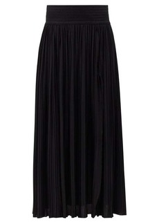 Balmain Pleated jersey maxi skirt