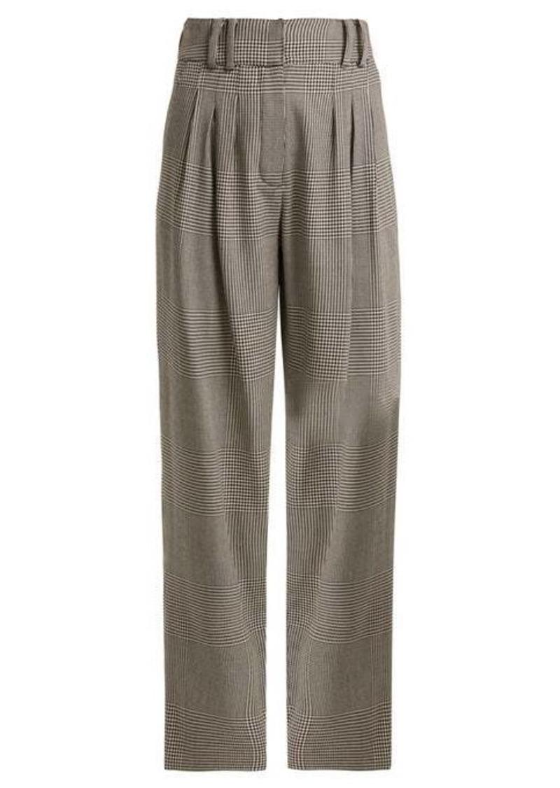 Balmain Prince of Wales-checked virgin-wool trousers