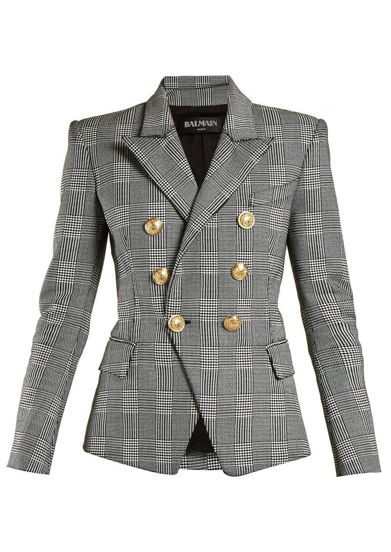 1260084e16 Balmain Balmain Prince of Wales double-breasted blazer   Outerwear