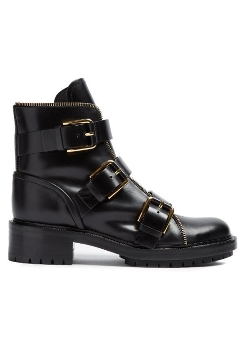 48368058a73 Balmain Balmain Ranger multi-strap leather ankle boots   Shoes