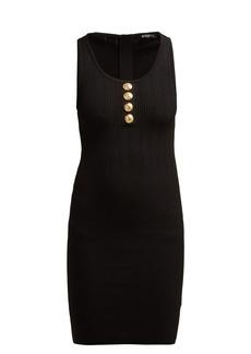 Balmain Ribbed-knit mini dress