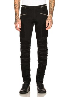 BALMAIN Ribbed Slim Jeans
