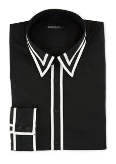 Balmain Ruban Contrast-Trim Sport Shirt