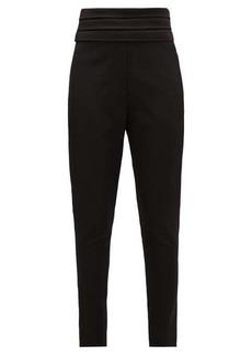 Balmain Satin-trimmed wool tuxedo trousers