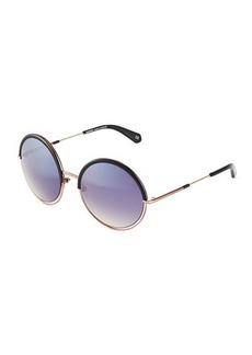 Balmain Semi-Rimless Round Sunglasses